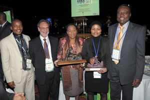 Award  WIM and Minister S Shabangu