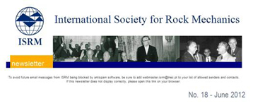 ISRM Newsletter logo June 2012